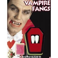 Dientes colmillos individuales vampiro