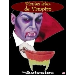 Dientes latex vampiro