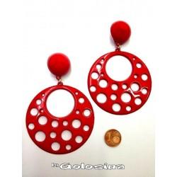 Pendientes plastico labrados altura 9,5 cm