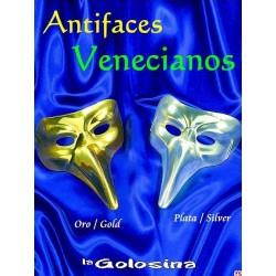 Antifaz Veneciano metalizado