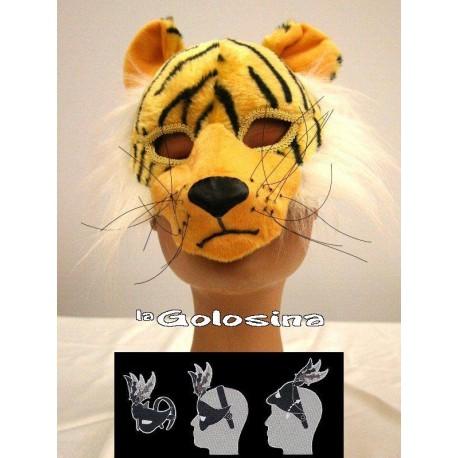 Mascara con diadema de Tigre