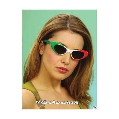 Gafas Alargadas 3 colores verde,blanco,rojo