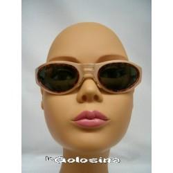 Gafas Oval metal con cerco concha