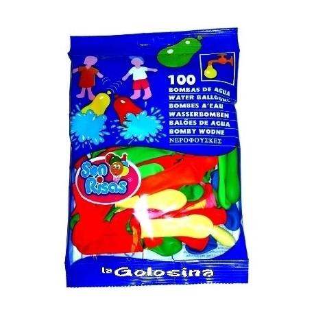 Globos fiesta 100 U Globos de agua 9 cm