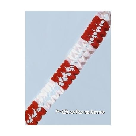 Guirnalda Roja y blanca 3 metros