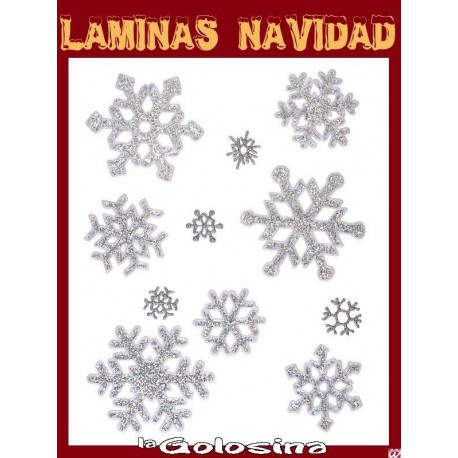 Lamina Navidad n4 Decoracion ventanas, espejos