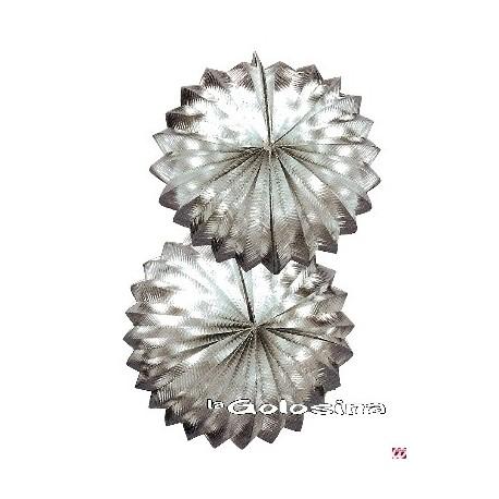 Farol guirnalda plateado 25 cm