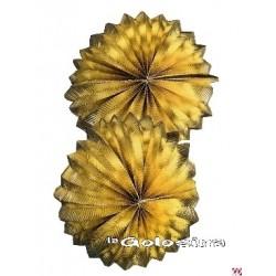 Farol guirnalda dorado 25 cm