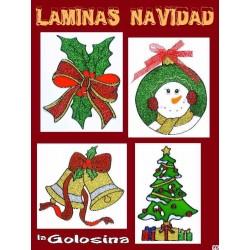 Lamina Navidad n2 Decoracion ventanas, espejos