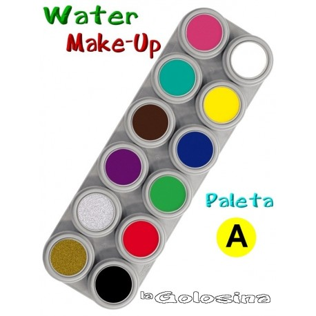 Maquillaje al Agua Pure Paleta 12 colores Grimas