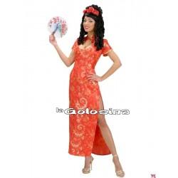 Disfraz Ad. China vestido largo