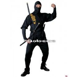 Disfraz Ad. Ninja dibujo dorado