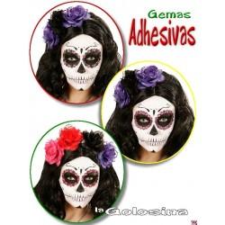 Set 40 gemas adhesivas decorativas para ojos