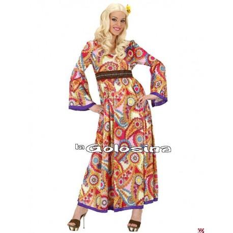 Disfraz Ad. Hippie chica falda larga.