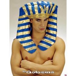 Somb. Faraon tela azul - dorado