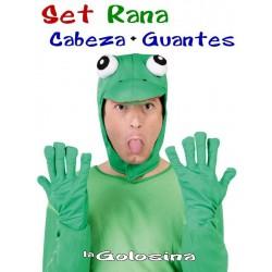 Sombrero Gorro + guantes de Rana