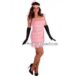 Disfraz Ad. Charleston rosa.