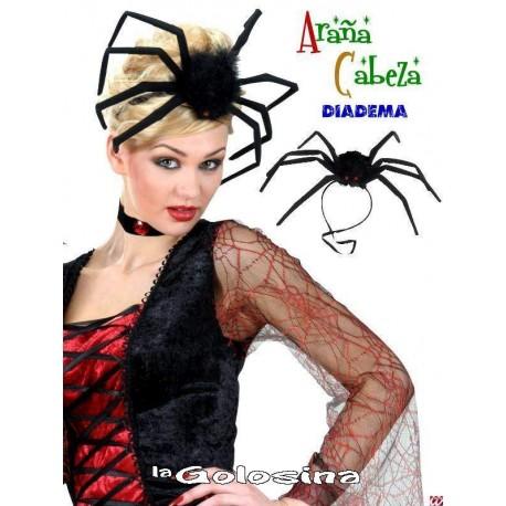 Diadema de arana con patas de alambre.