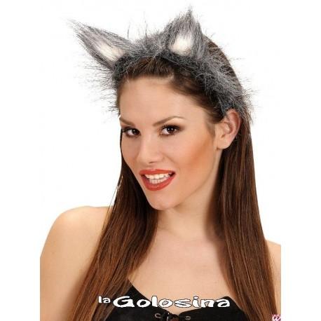 Diadema de gato / lobo gris.
