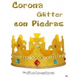 Corona glitter con piedras