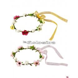 Diadema de flores con cinta