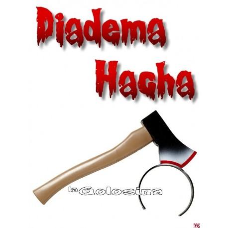 Diadema con hacha sangrienta
