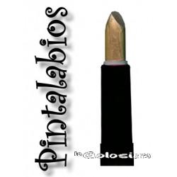 Maquillaje: Pintalabios dorado