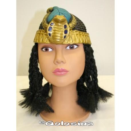 Casquete cleopatra con pelo