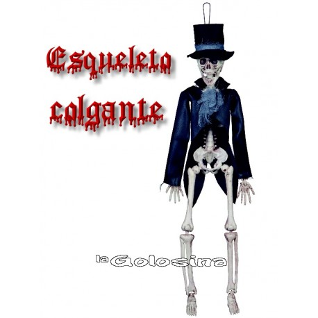 Esqueleto vestido colgante 40 cm.