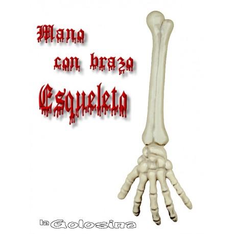 Mano con brazo esqueleto 43 cm.