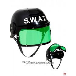 Casco Antidisturbios Policia negro (S.W.A.T.).