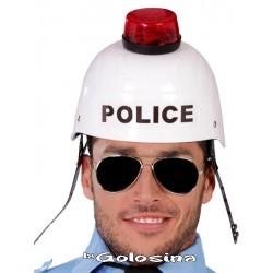 Casco Policia con luz y sonido.