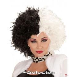 Peluca blanca y negra (Cruella)