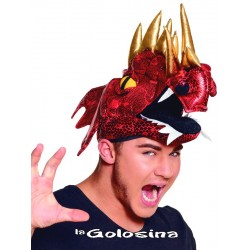 Gorro dragon rojo