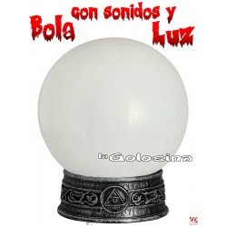 Bola con luces y sonidos (halloween, mago)