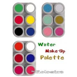 Maquillaje al Agua Paleta 6 colores Grimas