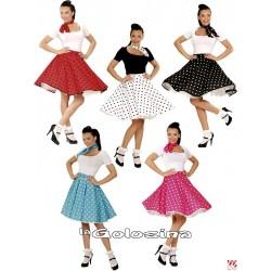 Falda de lunares polka anos 50 y panuelo