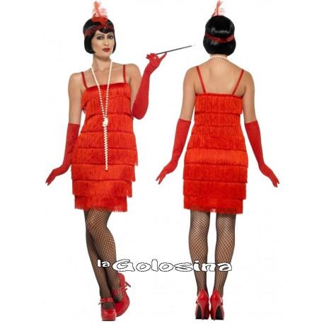 Disfraz Charleston Rojo