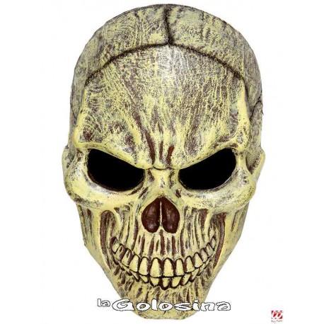 Máscara Calavera media cara en espuma de látex