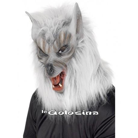 Careta Lobo blanca entera