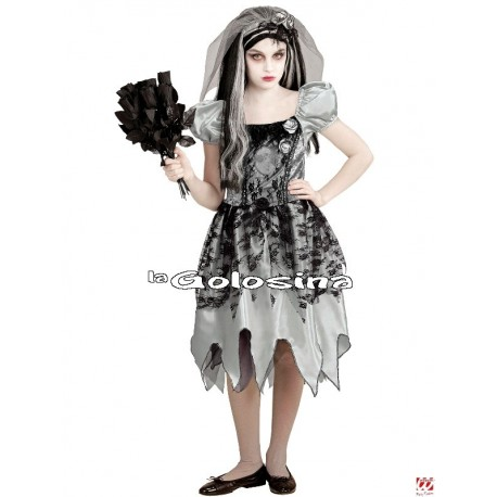 Disfraz Niña: Esposa Fantasmagorica, novia