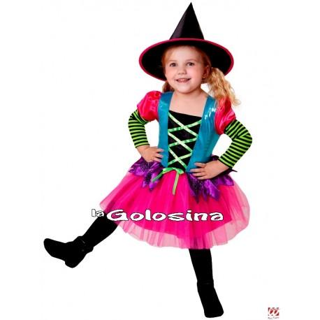 Disfraz Niña: Bruja Colores