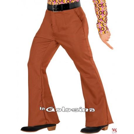 Pantalones Hombre Groovy Años 70 - Marron