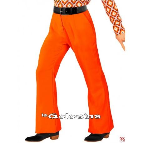 Pantalones Hombre Groovy Años 70 - Naranja