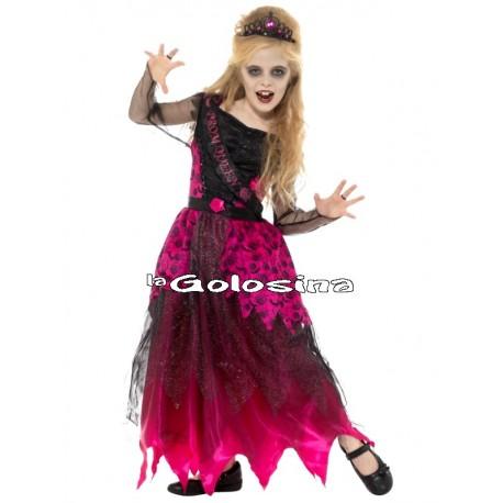 Disfraz Niña: Reina Graduacion Gotica
