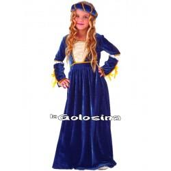 Disfraz Niña: Julieta (medieval).