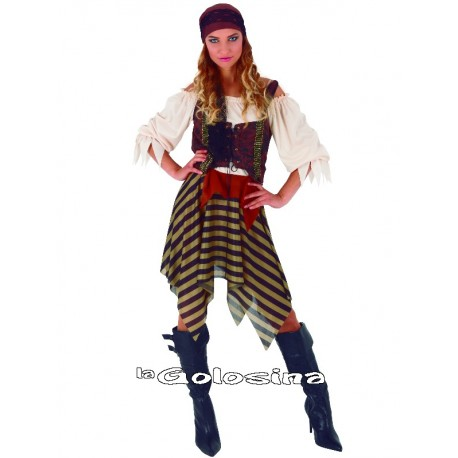 Disfraz Chica Pirata Rayas