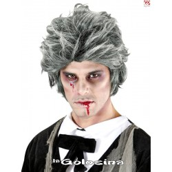 Peluca Hombre Zombie Gris