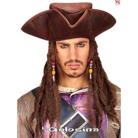 Gorro Pirata Tela con Rastas