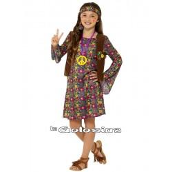 Disfraz Niña: Hippie. 3